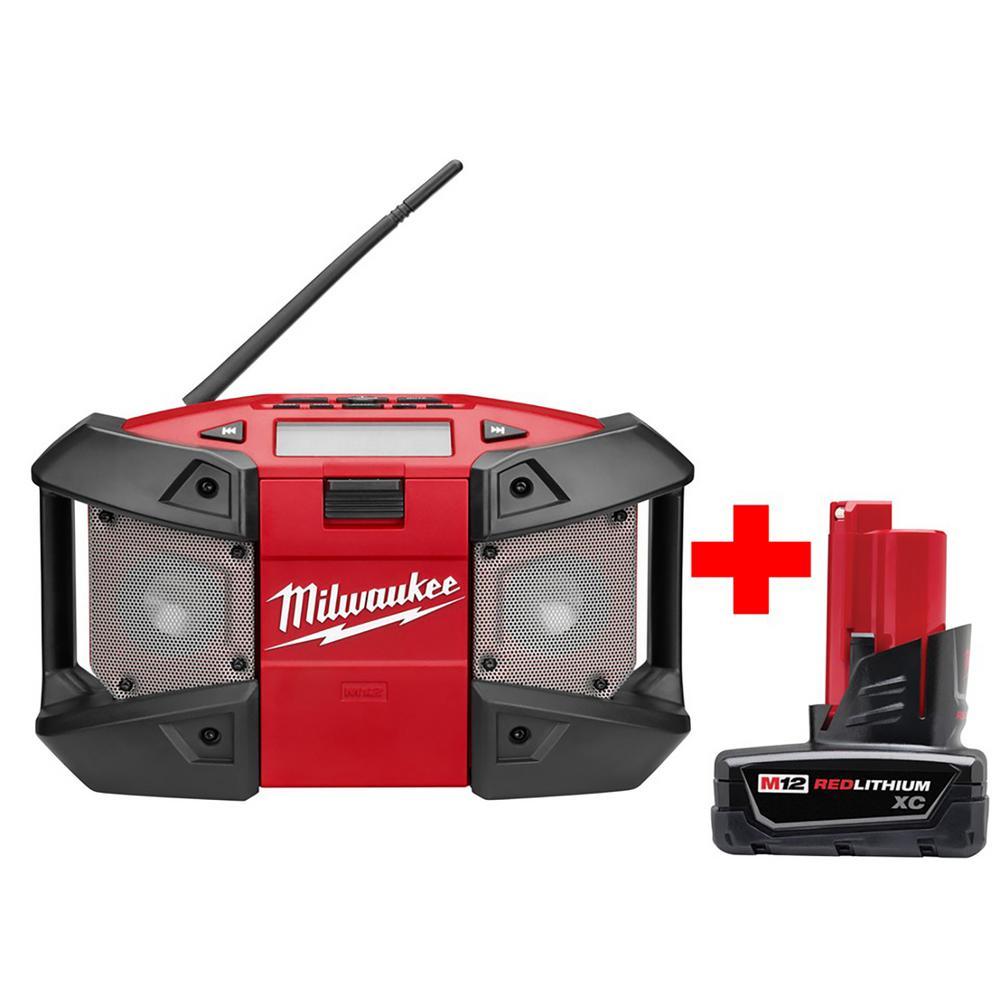 M12 Job-Site Radio W/ Free M12 XC Battery Pack 3.0Ah