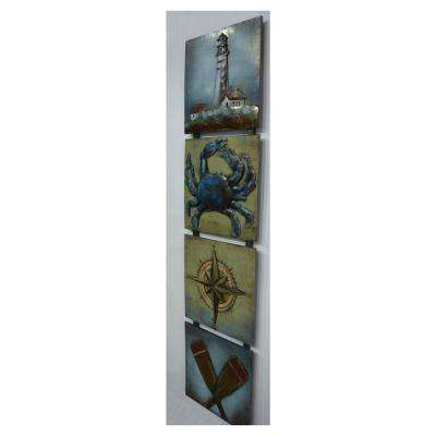 "12 in. x 49 in. ""Shore Life"" Metal Wall Art"