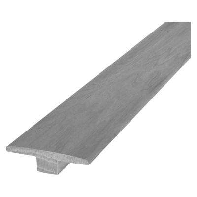 Gray Mist Hickory 9/16 in. Thick x 2 in. Wide x 84 in. Length Hardwood T-Molding