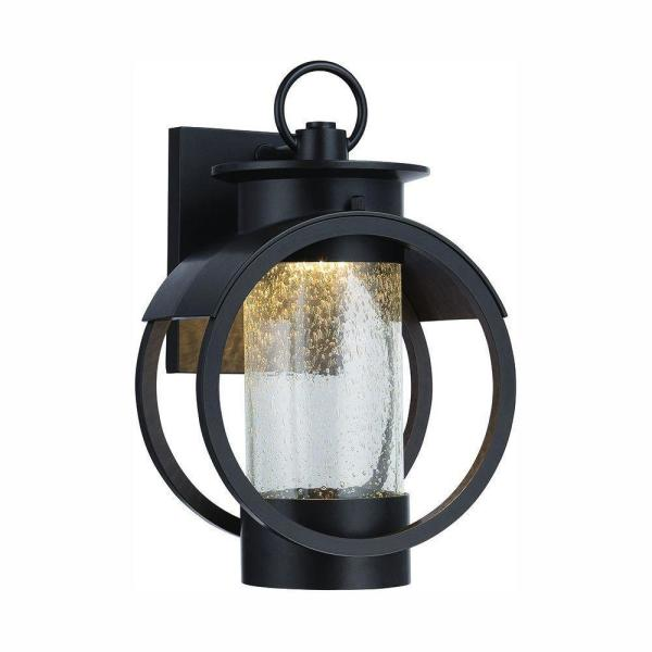 Arbor 9 in. Burnished Bronze LED Wall Lantern Sconce