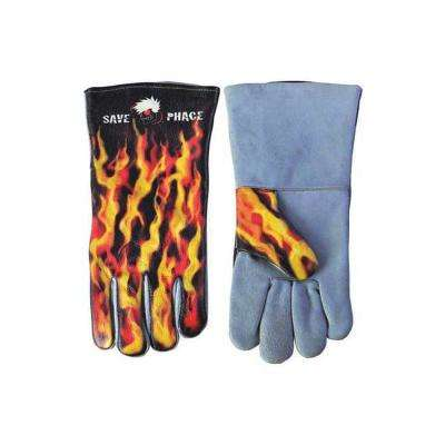 """Large Multi-Color Cotton Fired Up Welding Gloves"""