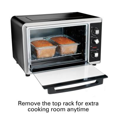 Hamilton Beach-Countertop Toaster Oven Black with Convection and Rotisserie
