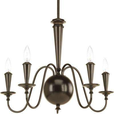 Identity Collection 5-Light Antique Bronze Chandelier
