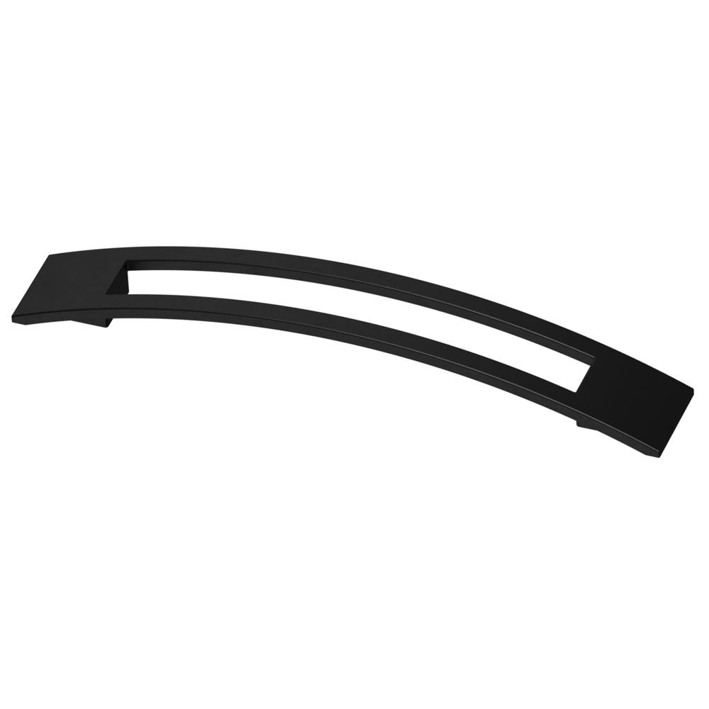 Liberty Cutout Slight Curved 6 516 In 160mm Center To Center Matte Black Drawer Pull