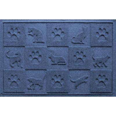 Navy 24 in. x 36 in. Cat in the Mat Pet Mat