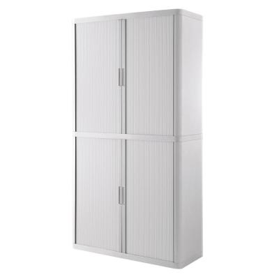 Paperflow easyOffice 80 in. Tall with 4-Shelves Storage Cabinet in White