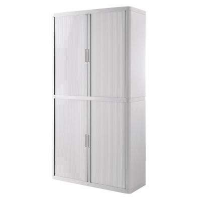 Paperflow easyOffice Storage Cabinet, 80 in. Tall with 4-Shelves, White