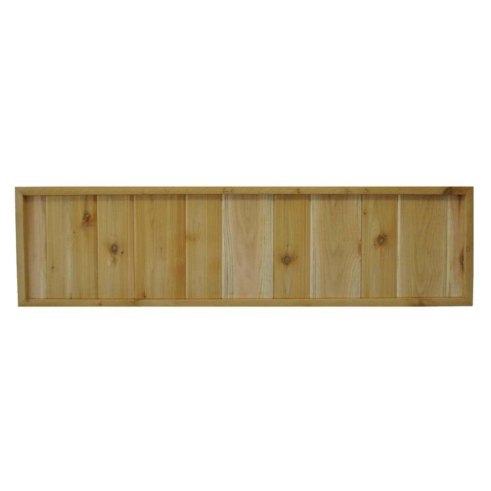 45.75 in. x 12 in. Western Red Cedar Solid Pattern Framed