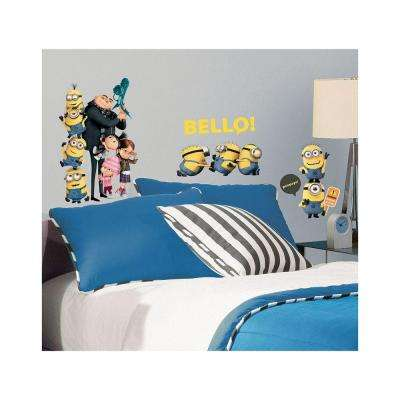 5 in. x 11.5 in. Despicable Me 2 Peel and Stick Wall Decals
