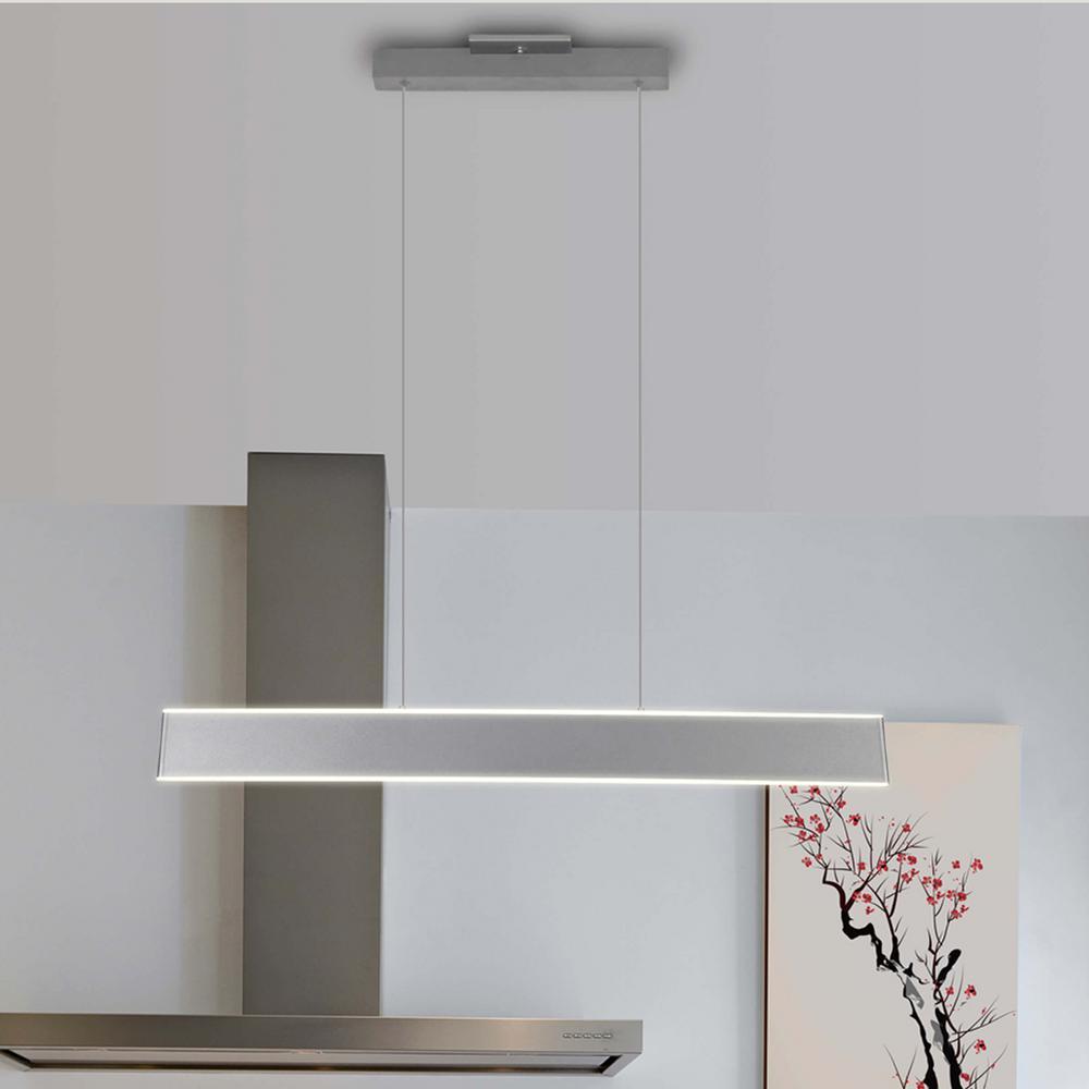 Wezen 43-Watt Silver Integrated LED Linear Chandelier