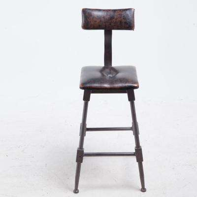 37 in. Brown High Back Bar Stool