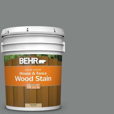 5 gal. #6795 Slate Gray Solid Color House and Fence Exterior Wood Stain