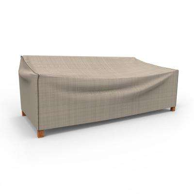 NeverWet Mojave Extra-Extra Large Black Ivory Patio Sofa Cover