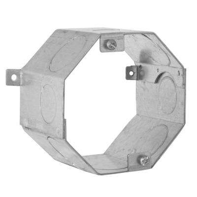 4 in. Octagon Welded Concrete Ring, 3 in. Deep with 3/4 and 1 in. Knockouts (25-Pack)