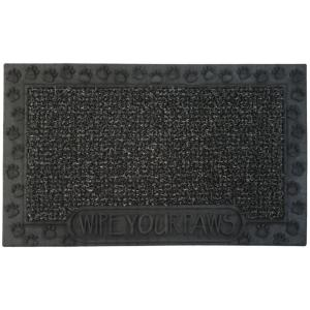 Clean Machine Wipe Your Paws Flint 18 inch x 30 inch Door Mat by Clean Machine