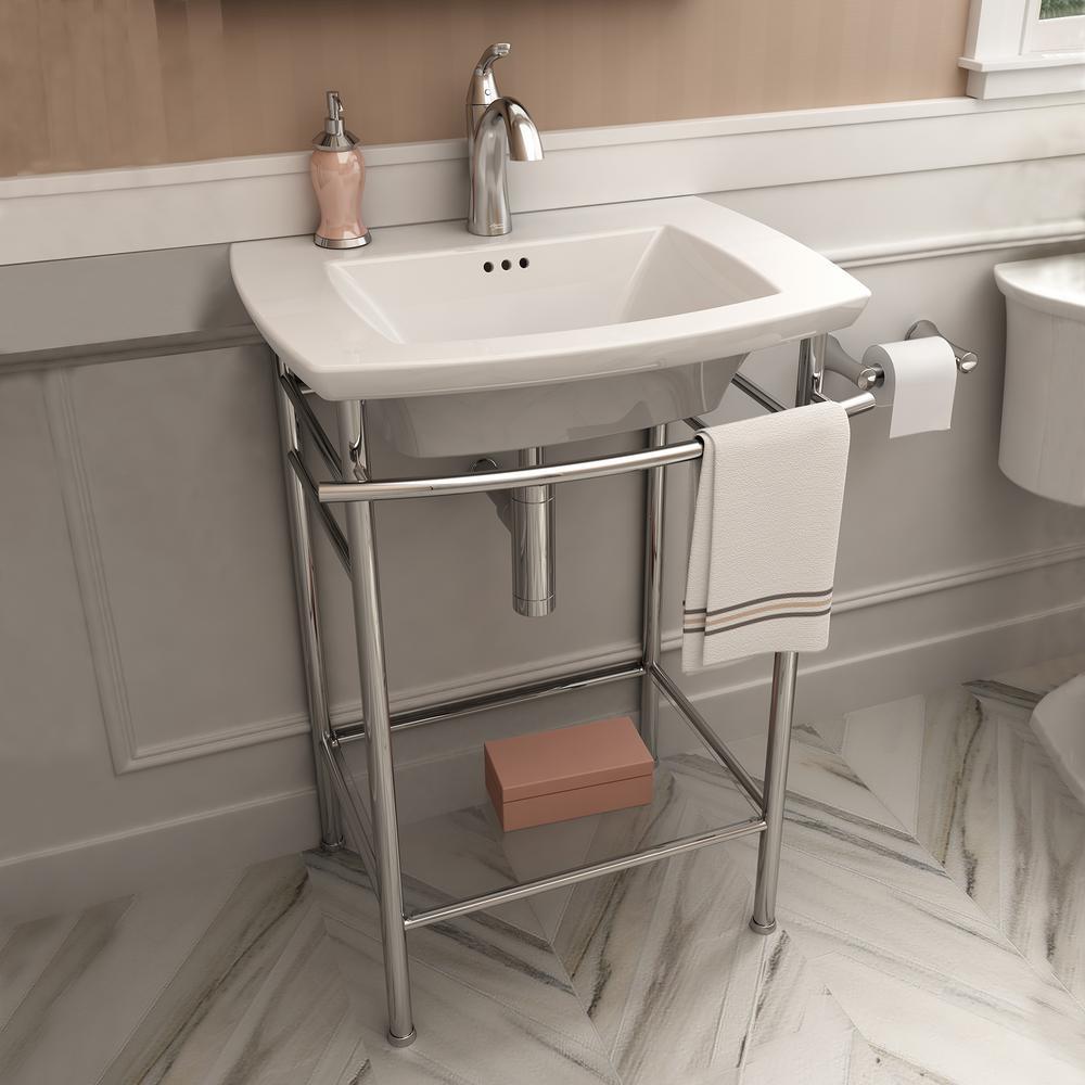 American Standard Edgemere Pedestal Sink Basin In White