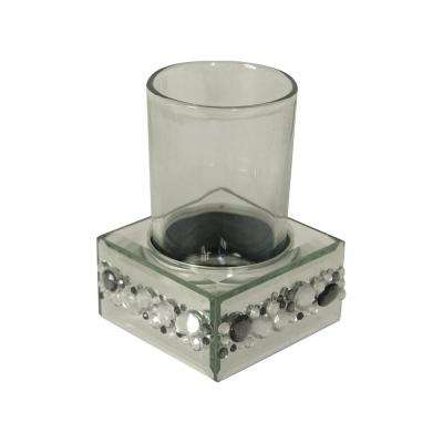 Harlow Tumbler, Silver Mirror with Beads