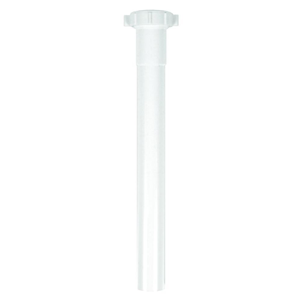 Everbilt Everbilt 1-1/4 in. x 12 in. Plastic Slip Joint Extension, White