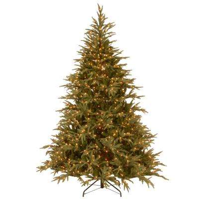 7-1/2 ft. Feel-Real Fraser Grande Hinged Artificial Christmas Tree with 1000 Clear Lights