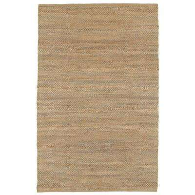 Chevron Natural Fiber Medium Gray 9 ft. x 12 ft. Plush Indoor Area Rug