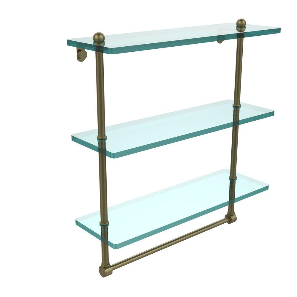 Allied Brass 16 In L X 18 In H X 5 In W 3 Tier Clear