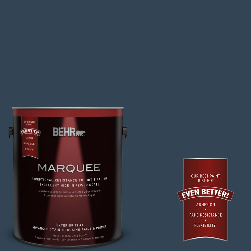 BEHR MARQUEE 1-gal. #570F-7 Midnight Dream Flat Exterior Paint