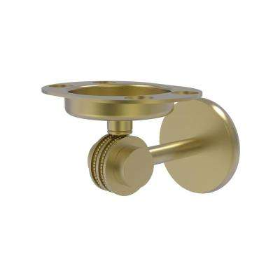 Satellite Orbit Two Collection Tumbler and Toothbrush Holder with Dotted Accents in Satin Brass