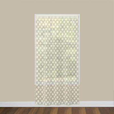 Polka Dot 58 in. W x 84 in. L Lace Window Panel in Cafe