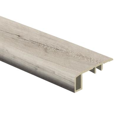 Raven forest Oak 7/16 in. Thick x 1-3/4 in. Wide x 72 in. Length Vinyl Carpet Reducer Molding