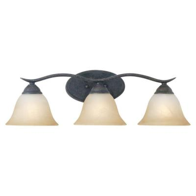 Prestige 3-Light Sable Bronze Wall Vanity Light