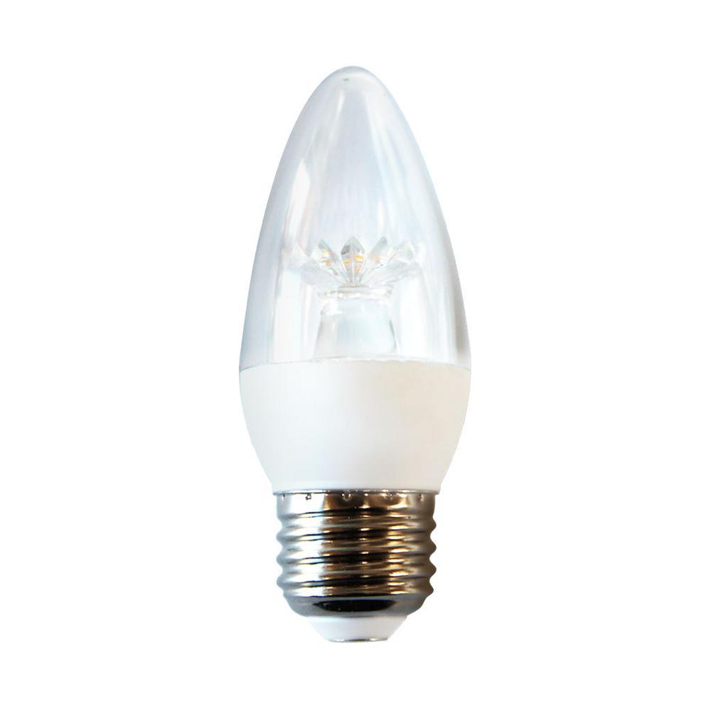 25W Equivalent Soft White B11 LED Light Bulb (12-Pack)