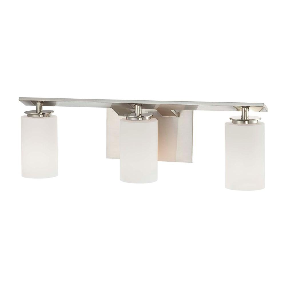 Minka Lavery Inoui Bath 3-Light Brushed Nickel Bath Light