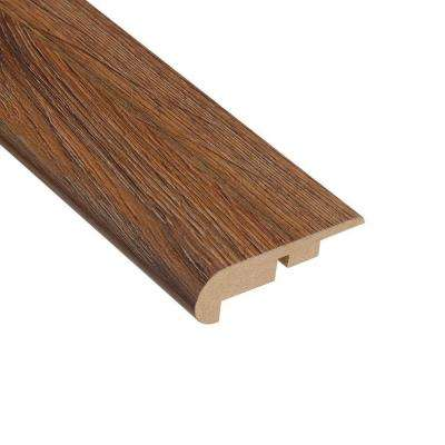 Palace Oak Dark 7/16 in. Thick x 2-1/4 in. Wide x 94 in. Length Laminate Stairnose Molding