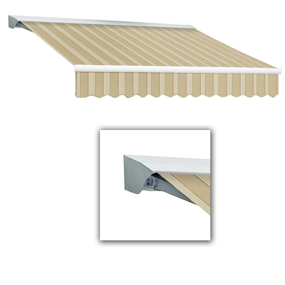 AWNTECH 8 ft. LX-Destin with Hood Left Motor/Remote Retractable Acrylic Awning (84 in. Projection) in Law
