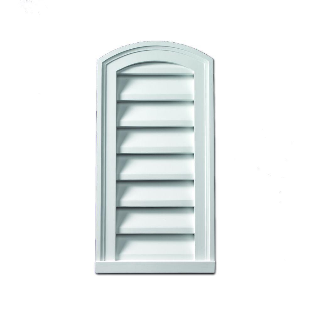 Fypon 18 in x 30 in x 2 in polyurethane decorative for Fypon gable vents