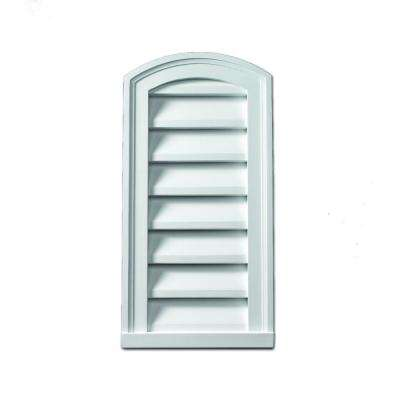 18 in. x 30 in. x 2 in. Polyurethane Functional Eyebrow Louver Gable Vent