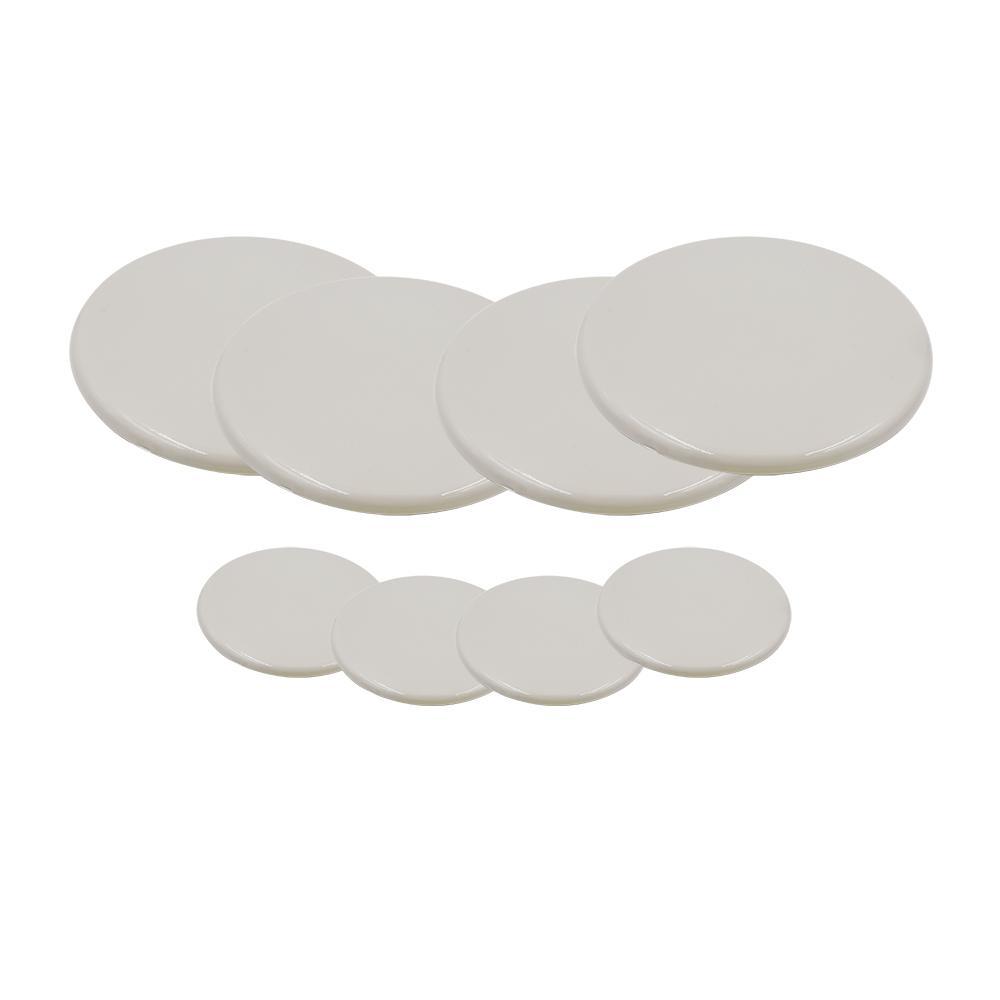 Everbilt 3 1 2 In And 7 Beige Plastic Reusable Sliders For Soft Floors 8 Pack