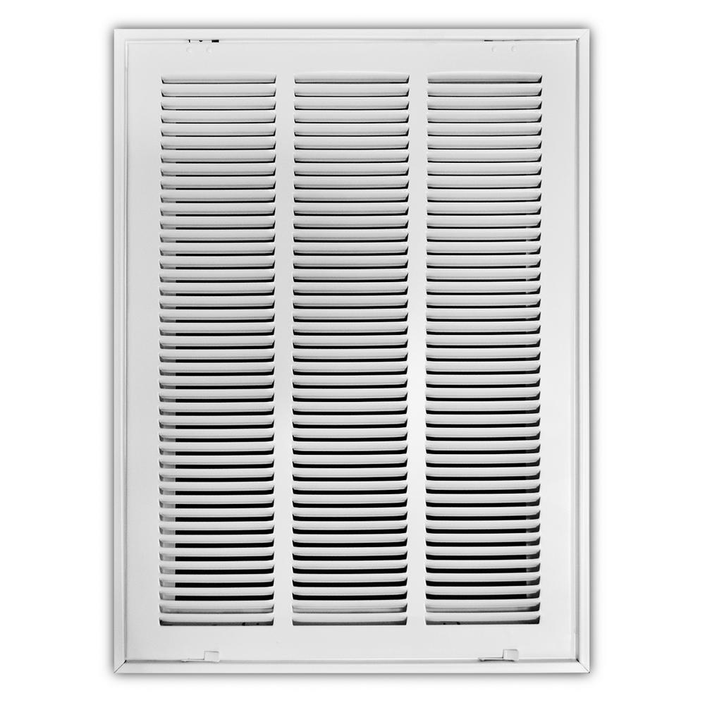 14 in. x 20 in. White Return Air Filter Grille