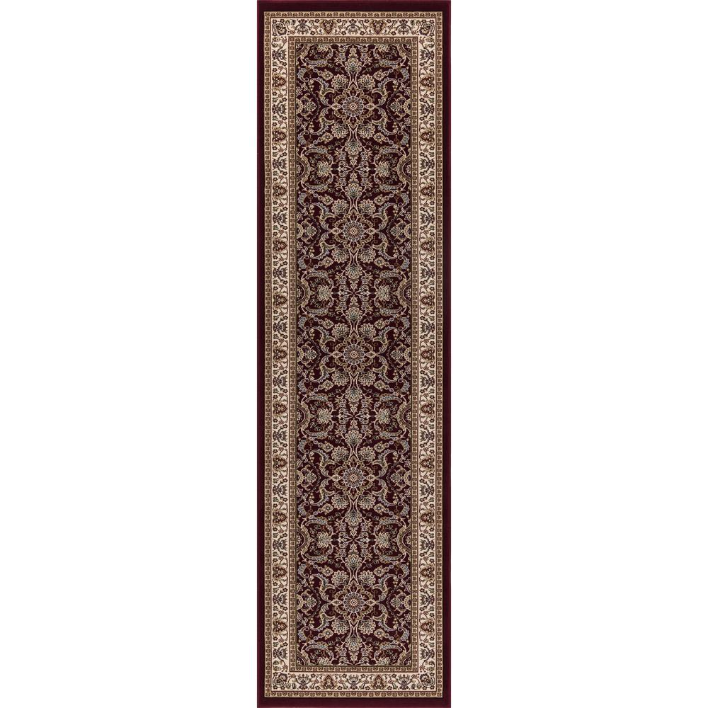 Concord Global Trading Williams Collection Izmir Red 2 ft. x 8 ft. Runner  Rug