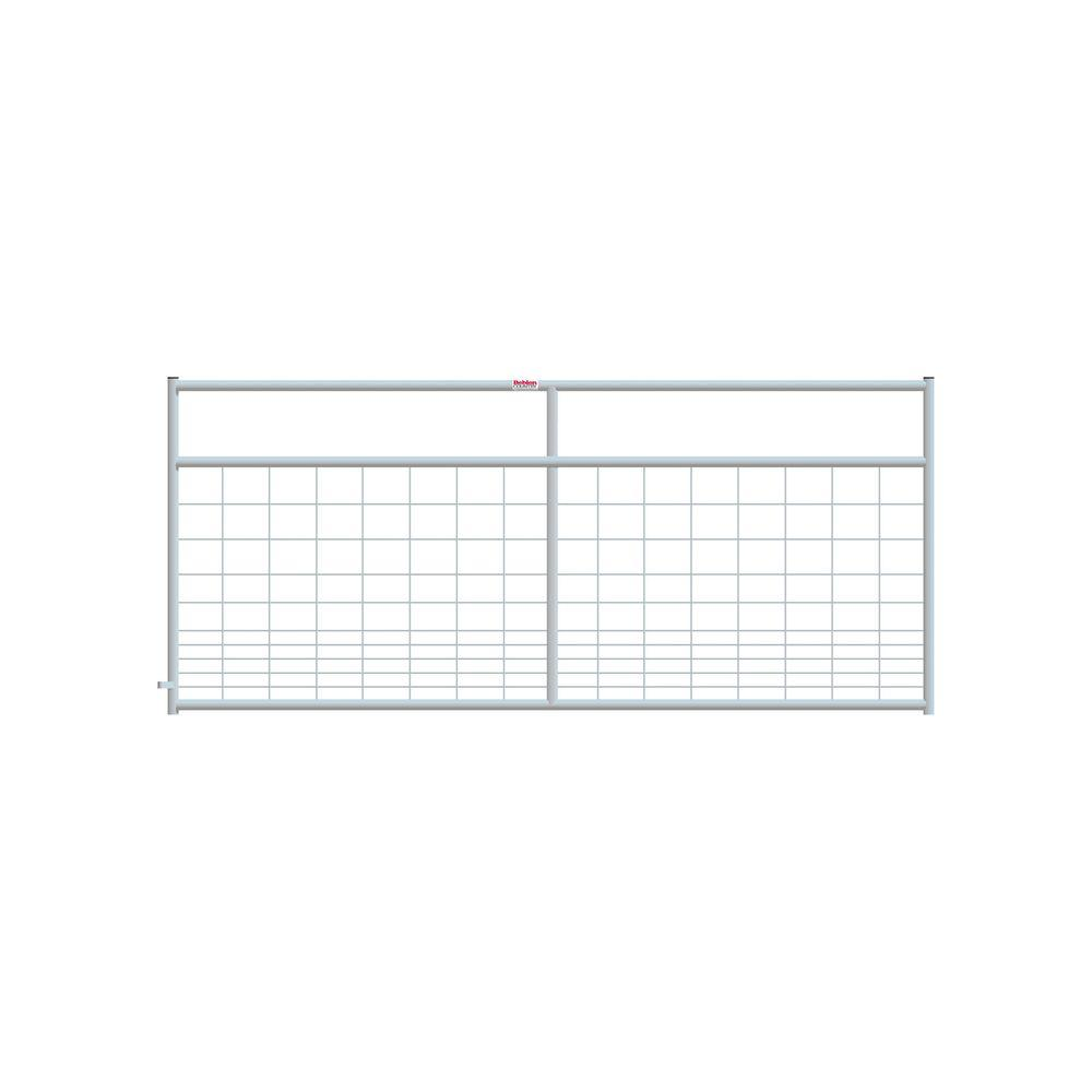 8 ft. x 4 ft. 2 in. Galvanized Wire-Filled Gate