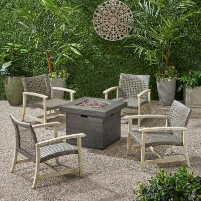 Wood - Fire Pit Patio Sets - Outdoor Lounge Furniture ...
