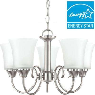 Holman 5-Light Brushed Nickel Chandelier