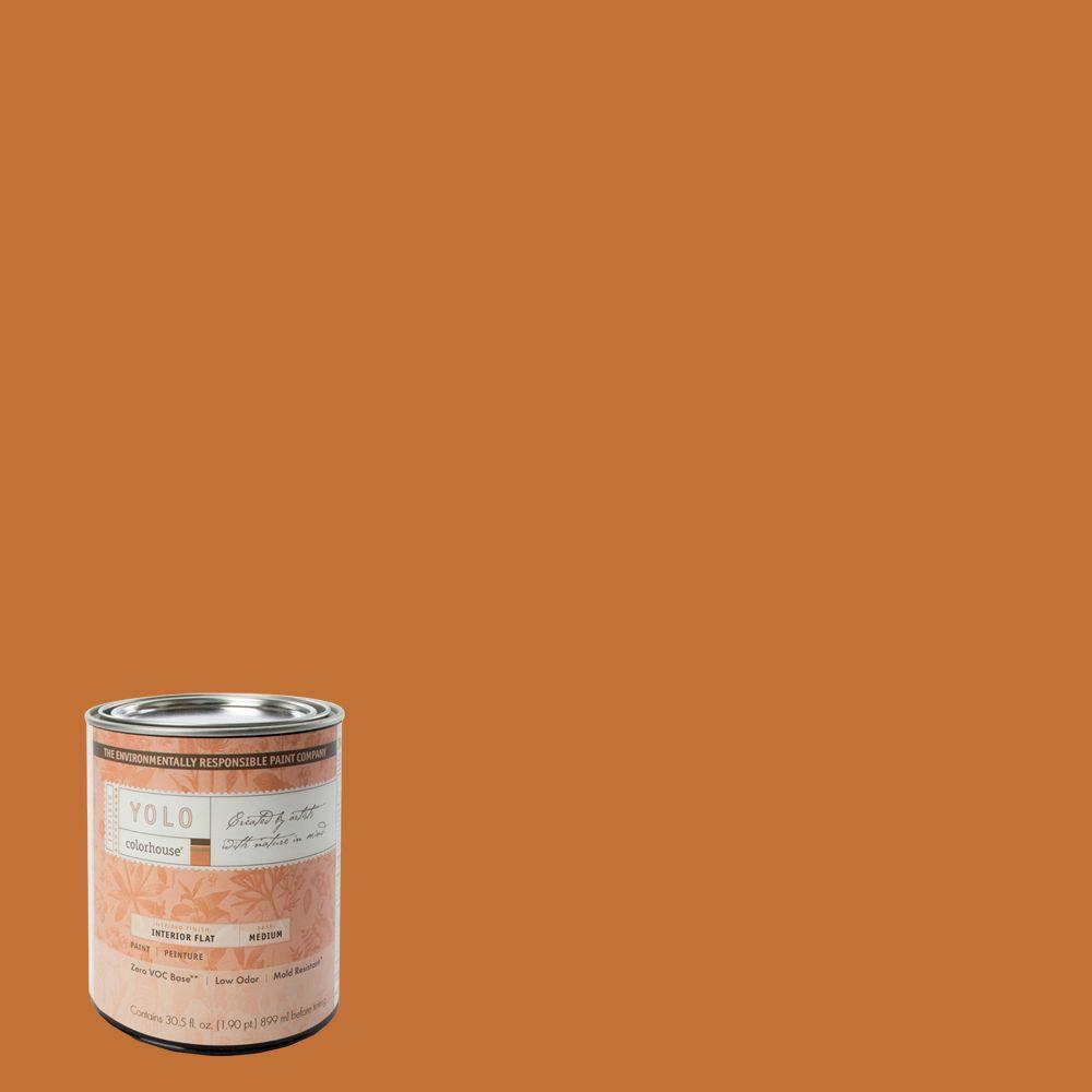 YOLO Colorhouse 1-Qt. Create .03 Flat Interior Paint-DISCONTINUED