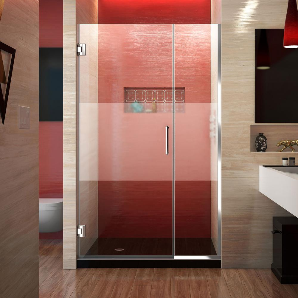 Unidoor Plus 37-1/2 to 38 in. x 72 in. Frameless Pivot