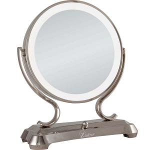 Zadro 16 inch L x 12.75 inch W x 6.25 inch D Dual Sided Lighted Fluorescent Glamour Mirror... by Zadro