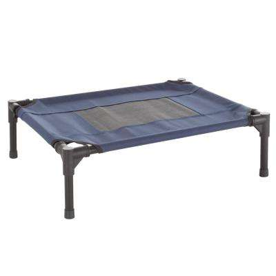 Small Navy Blue Elevated Pet Bed