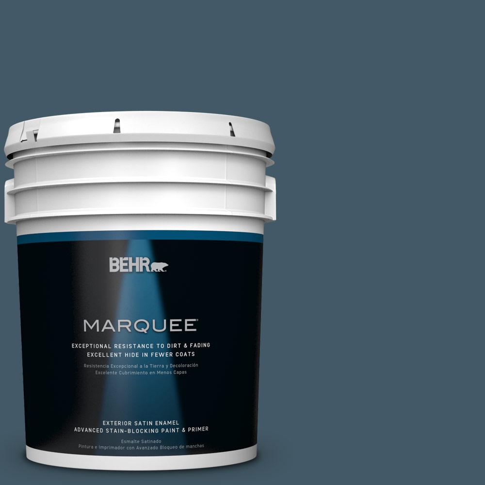 5-gal. #S480-7 Midnight in the Tropics Satin Enamel Exterior Paint