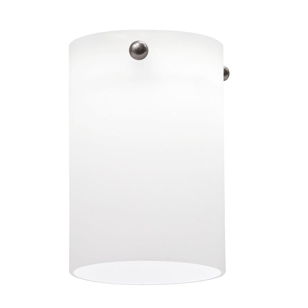 Opal White Short Cylinder Shade LED Mini Pendant