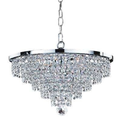 Vista 6-Light Chrome and Crystal Incandescent Chandelier