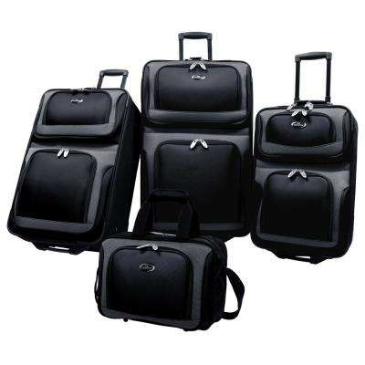 New Yorker 4-Piece Luggage Set in Black
